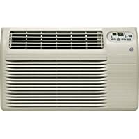 GE AJCQ12ACG 26 Energy Star Built In Air Conditioner with 12000 Cooling BTU 24 Hour Timer and Remote Control in Soft Gray