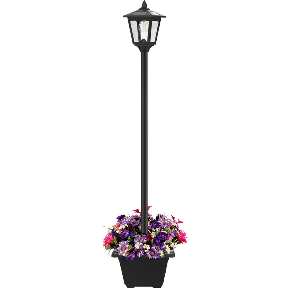 Greluna 68'' Solar Lamp Post Lights Outdoor, Solar Powered Vintage Street Lights for Lawn, Pathway, Driveway, Front/Back Door, Planter Not Included