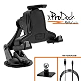 iBOLT xProDock AMPS Combo w/2 mounting options: Metal AMPs drill base mount/Suction cup mount and 2m charging cable. Compatible with Samsung