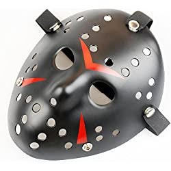 Gmasking Horror Halloween Costume Hockey Mask Party Cosplay Props (Black)