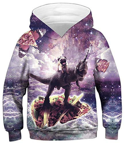 HaniLav Boys Girls 3D Unicorn Print Sweatshirts Pullover Kids Hoodies with Pocket,Dinosaurs and -