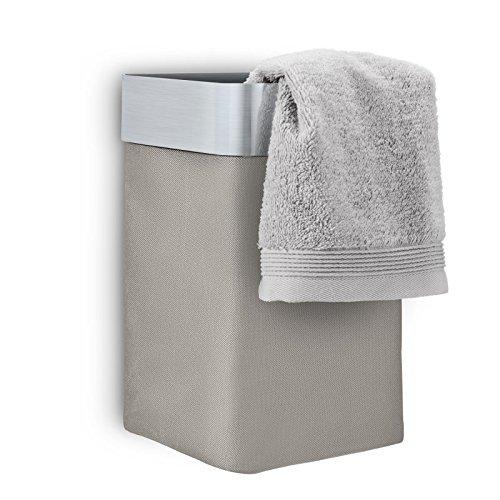 Towel Basket in Taupe Matt