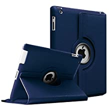 Fintie Apple iPad 2/3/4 Case - 360 Degree Rotating Stand Smart Case Cover for iPad with Retina Display (iPad 4th Generation), the new iPad 3 & iPad 2 (Automatic Wake/Sleep Feature), Navy