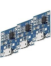 AZDelivery 3 x TP4056 Micro USB 5V 1A laadregelaar Lithium Li - Ionenbatterijlader module Inclusief E-Book!