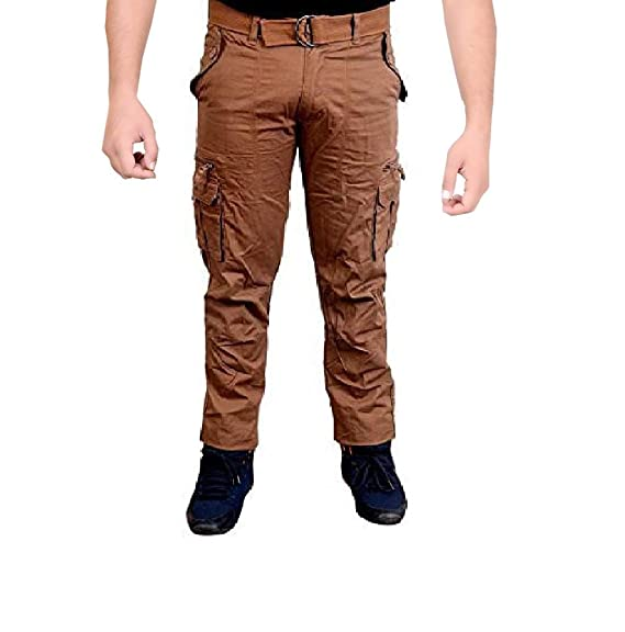 6ca8cfb9077 Krystle Men s Cotton Khakhi Cargo Pant  Amazon.in  Clothing ...