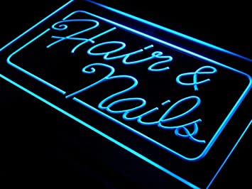 ADVPRO Open Hair & Nails Beauty Salon LED Neon Sign Multi-Color 24
