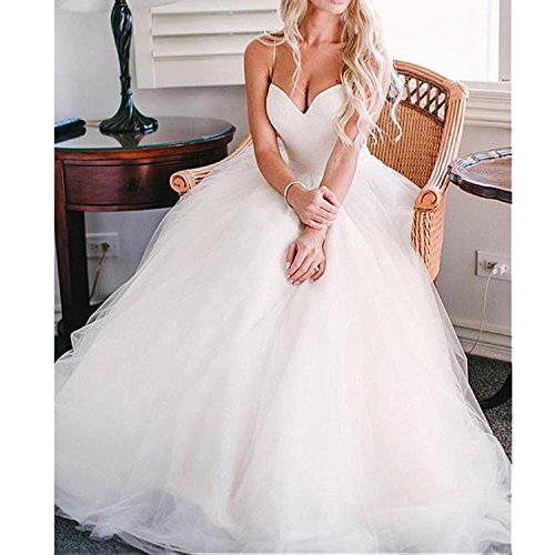 Cheap Wedding Dresses Under 500 Dollars: YinWen Women's Boho Beach Wedding Dress Long Tulle