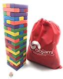 Image of Wooden Stacking Board Games Tumbling Tower Blocks for Kids - 60 pieces