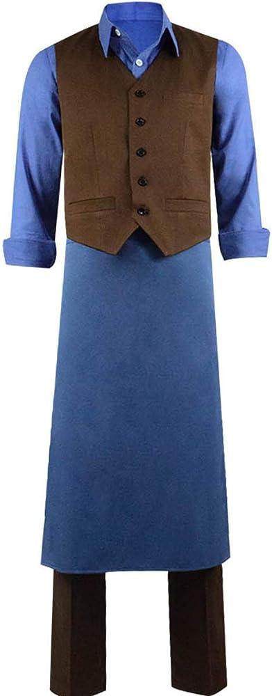 Dahee Franz Disfraz de Granjero para Hombre, Conjunto Completo de Ropa Pastoral para Halloween - - XXX-Large: Amazon.es: Ropa y accesorios