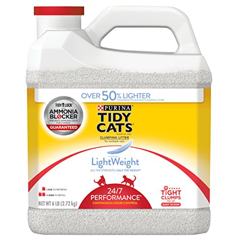 Purina Tidy Cats LightWeight 24/7 Performance for Multiple Cats Clumping Cat Litter - 6 lb. Jug