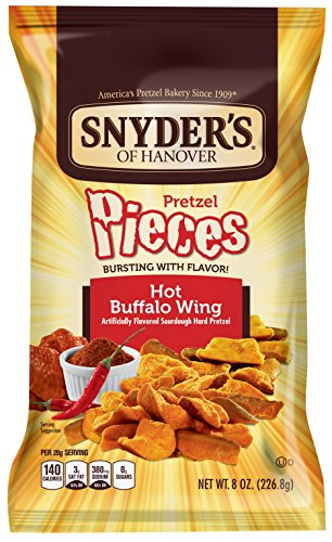 Snyder's of Hanover Pretzel Pieces, Hot Buffalo Wing, 8 Ounce (Pack of ()