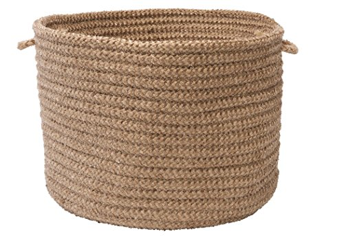 Colonial Mills Softex Check Utility Basket, 18 by 12-Inch, Cafe Tostado (Tostado Check)