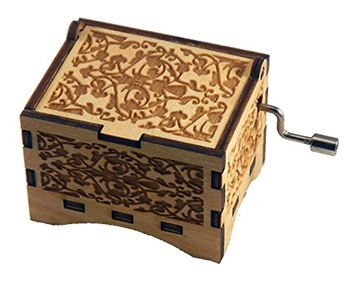Personalizable Music Box, You Are My Sunshine, Laser Engraved Birch Wood (Standard)