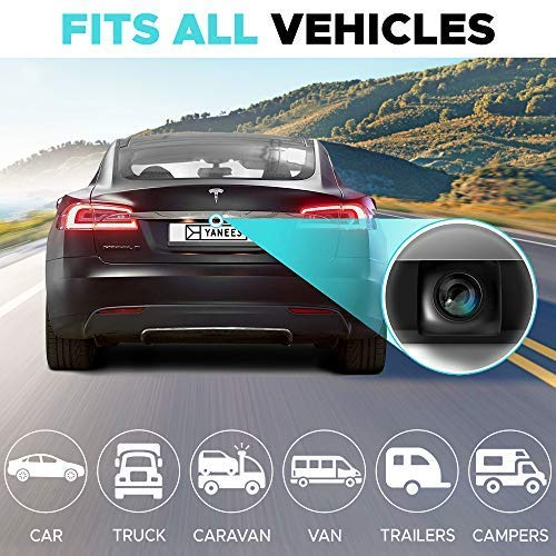 Backup Camera Night Vision - HD 1080p - Car Rear View Parking Camera - Best 170° Wide View Angel - Waterproof Reverse Auto Back Up Car Backing Camera - High Definition - Fits All Vehicles by Yanees by YANEES (Image #2)