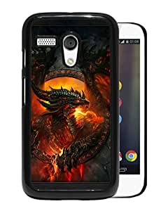 WANY Beautiful Classic World Of Warcraft Dragon Fire Face Wings Black Moto G Case