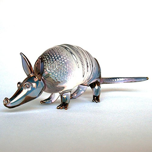 Armadillo Figurine of Hand Blown Glass