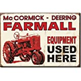 (2x3) Farmall Equipment Used Here Red Tractor Distressed Retro Vintage Locker Refrigerator Magnet