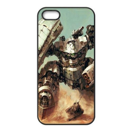 Desert Mecha coque iPhone 5 5S cellulaire cas coque de téléphone cas téléphone cellulaire noir couvercle EOKXLLNCD23171