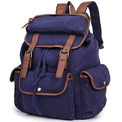 New step Multi-function Vintage Canvas Fabric Cotton Backpack