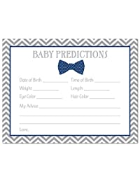 48 Bow Tie Baby Shower Prediction Cards (Navy) BOBEBE Online Baby Store From New York to Miami and Los Angeles