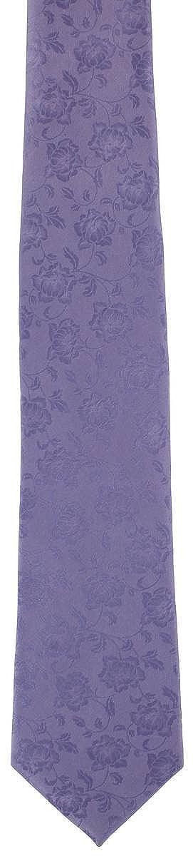 Lila Sutil Seda Floral Conjunto corbata y pañuelo de Michelsons of ...