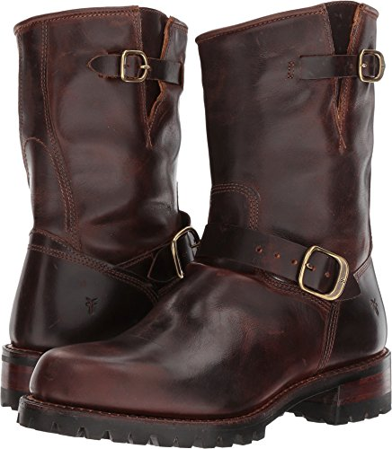 Frye Mens Addison Lug Engineer Boot Marrone Scuro