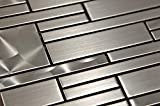 Stainless Steel Mosaic - Quadrant - 12x12''