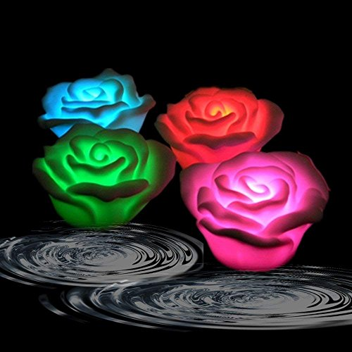 Led Color Changing Rose Shaped Light in US - 3