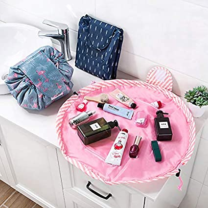 fd9ecdc29ec8 Image Unavailable. Image not available for. Color  Jamie® Women Drawstring  Cosmetic Bag Fashion Travel Makeup Bag Organizer Make Up Case Storage Pouch