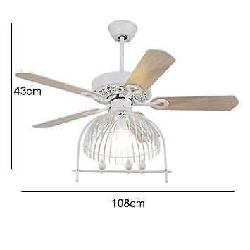 ZHYWJ Ventilador Moderno Lámpara de Techo Lámpara de ...
