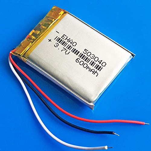 FidgetFidget Rechargeable Battery 600mAh lipo 3.7v for MP3 Mp4 PSP GPS Recorder 503040 3wires