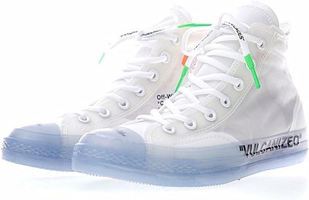 Classic Altas Sneakers Zapatillas de Moda Zapatos Deportivos Running Baloncesto Casual Unisex Adulto Zapatillas de fútbol Hombre Mujer Blanco Negro Azul Transparente: Amazon.es: Zapatos y complementos