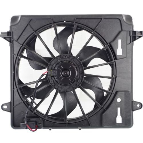MAPM Premium Quality WRANGLER (JK) 07-12 RADIATOR FAN ASSEMBLY, Single Fan, w/ Resistor by Make Auto Parts Manufacturing