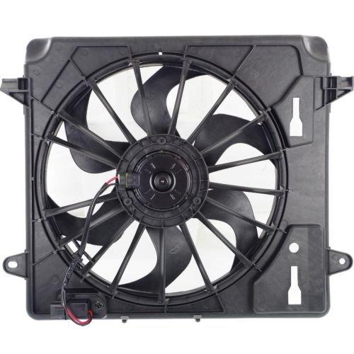 MAPM Premium Quality WRANGLER (JK) 07-12 RADIATOR FAN ASSEMBLY, Single Fan, w/ Resistor
