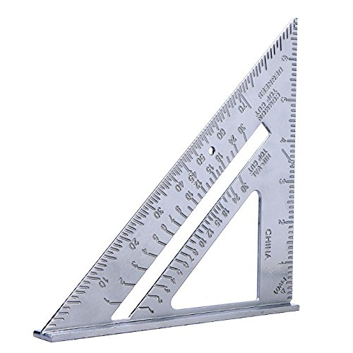 AMZLUCKY - 7inch Aluminum Speed Square Triangle Angle Protractor Measuring Tool Multi-function Protractor