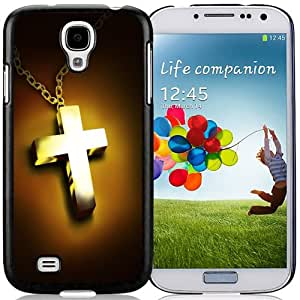 NEW DIY Unique Designed Samsung Galaxy S4 I9500 Phone Case For Golden CroS4 Necklace Phone Case Cover