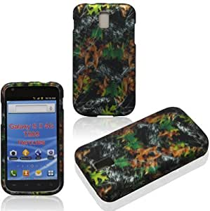 Magic Diy 2D Camo Leaves Samsung Hercules 4G T989/ Galaxy S II T- Mobile case cover 4MRxrif1u5l case cover Snap-on Rubberized Touch case cover Faceplates
