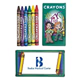 300 Personalized 6 Pack Kids Crayons Printed with Your Logo or Message