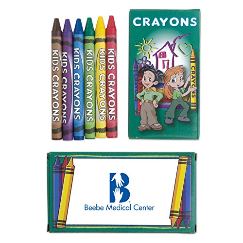 300 Personalized 6 Pack Kids Crayons Printed with Your Logo or Message by Ummah Promotions