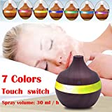 6 hr air freshener - Aroma Essential Oil Diffuser,Xisheep 300ml LED Cool Mist Humidifier Ultrasonic Aroma Air Essential Oil Diffuser Aromatherapy Humidifier for Office/Home Bedroom/Living Room/Baby Room/Yoga/Spa (Brown)