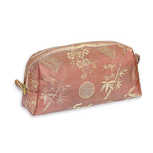 Price comparison product image Cosmetic Bag - Silk Jacquard (Peachrose)