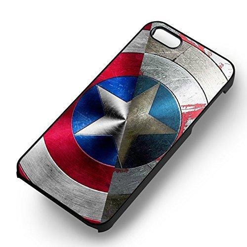 Captain America Avengers et Winter pour Coque Iphone 6 et Coque Iphone 6s Case (Noir Boîtier en plastique dur) J9W5FQ