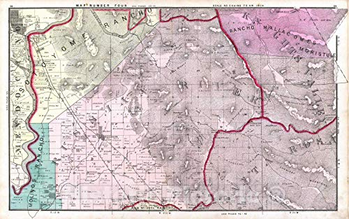 Historic Map | 1877 Mendocino, Russian River, Knights Valley, Santa Rosa Townships. | Vintage Wall Art | 44in x 28in