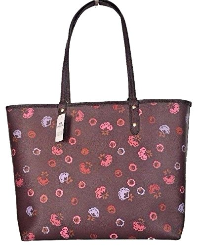Oxblood F36609 Signature City Im Reversible Coach Tote PVC xSIdH0Swq