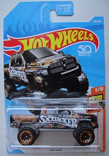 Hot Wheels HOT Trucks 5/10, Black RAM 1500 298/365 50TH Anniversary - Wheels Hot Dodge Ram