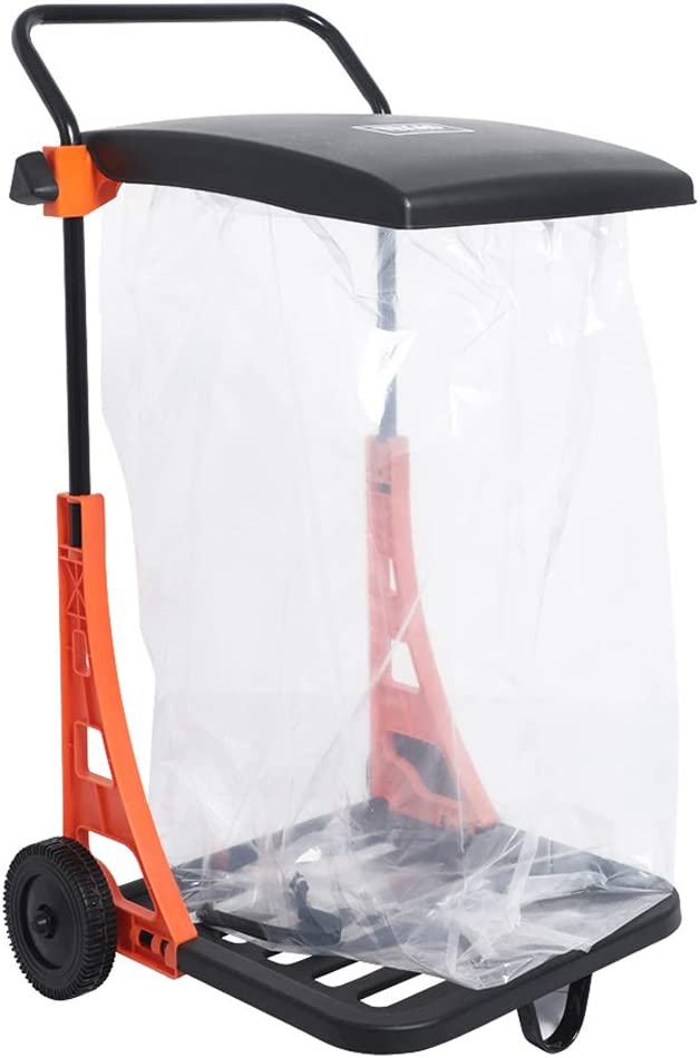 Hattomen All Purpose Garden Cart, Light Weight, 100 Lbs Weight Capacity For Snow, Leaves, Waste and Trash Collection