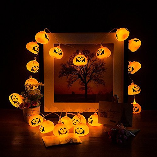 GET READY FOR HALLOWEEN PUMPKIN STRING LED LIGHT LATERN NOW ONLY $15.99!