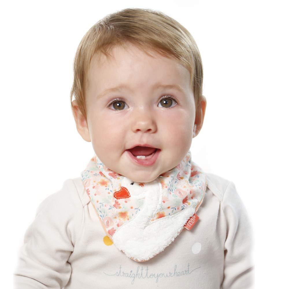 muy c/ómodos con velcro Abrazable Tri/ángulo Toalla reversible con dise/ño de dise/ño de animales fehn 062168/fehn 062168/Baby pa/ño de cuello de cisne para beb/és de 0/ mult /12/meses