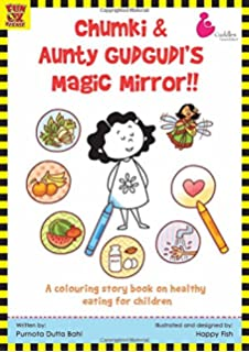 chumki and aunty gudgudis magic mirror a colouring book for kids with a story on - Colouring Books For Children