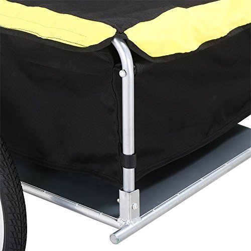 Yaheetech Garden Bike Bicycle Cargo Luggage Trailer-Yellow/Black by Yaheetech (Image #5)